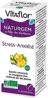 VITAFLOR Complexe gemmothérapie STRESS ANXIETE | Flacon 60 ml | Retrouver sa sérénité naturellement en combinant la force ...