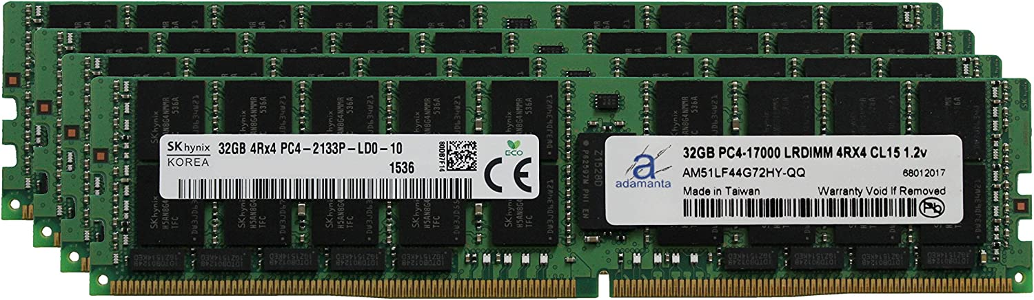 Selling Hynix Original 128GB 4x32GB LRDIMM H for Limited time sale Server Memory Upgrade