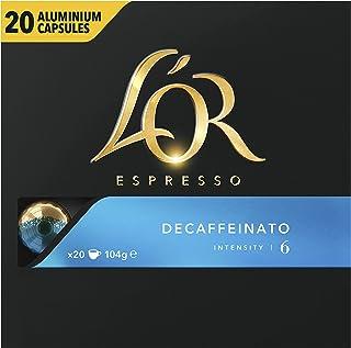 L'Or Espresso Café Decaffeinato Intensité 6 Capsules en Aluminium Compatibles avec les Machines Nespresso