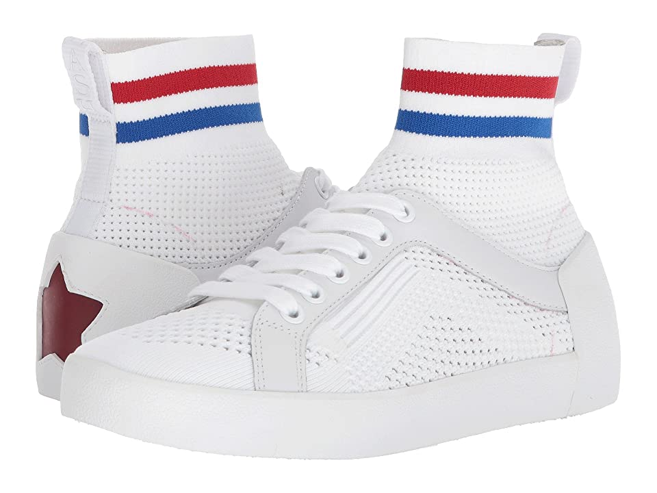 ASH Ninja (White/Red/Blue Knit/Nappa Calf) Women