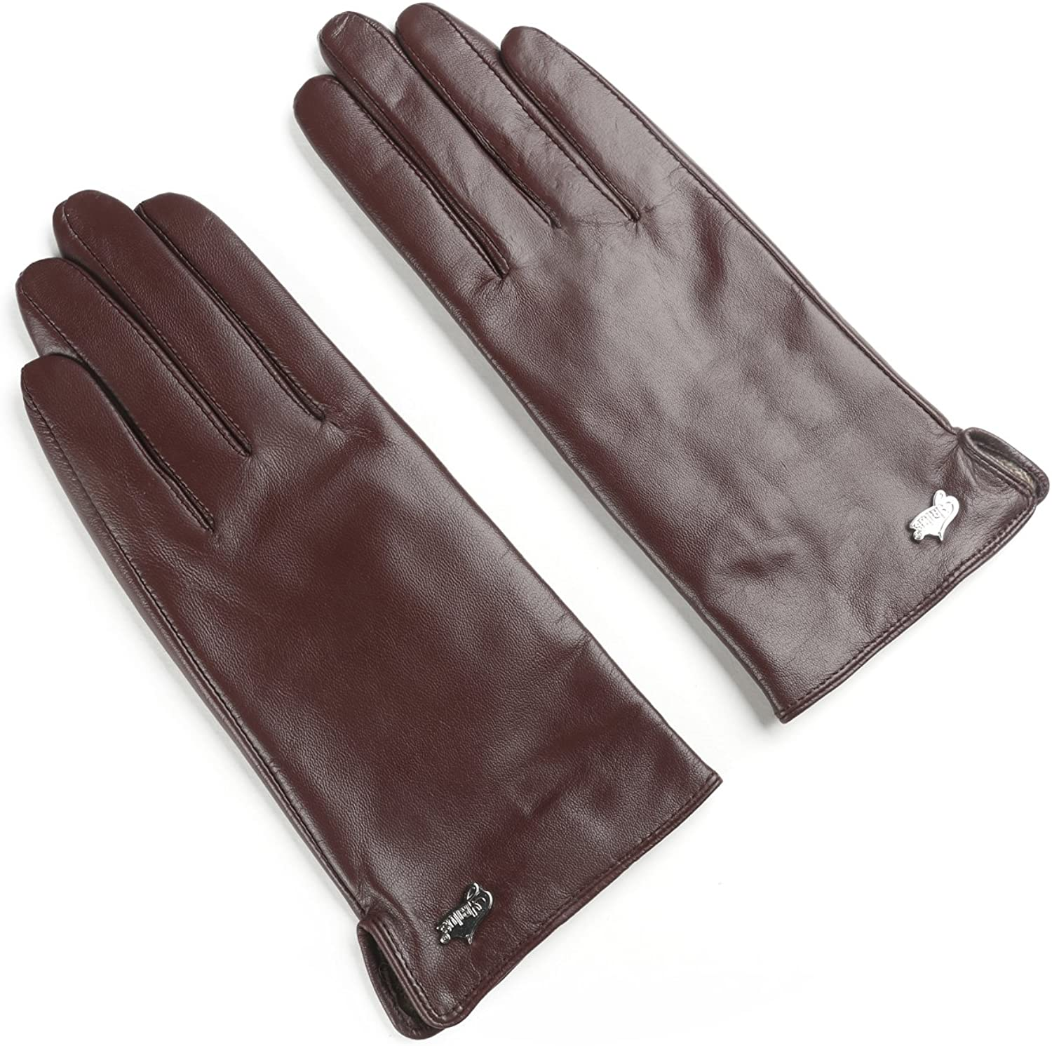 Ambesi Women's Cashmere Lined Nappa Leather Winter Gloves