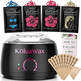 Waxing Kit Wax Warmer Hair Removal with Hard Wax Beans. KoluaWax Multiple Formulas Target..