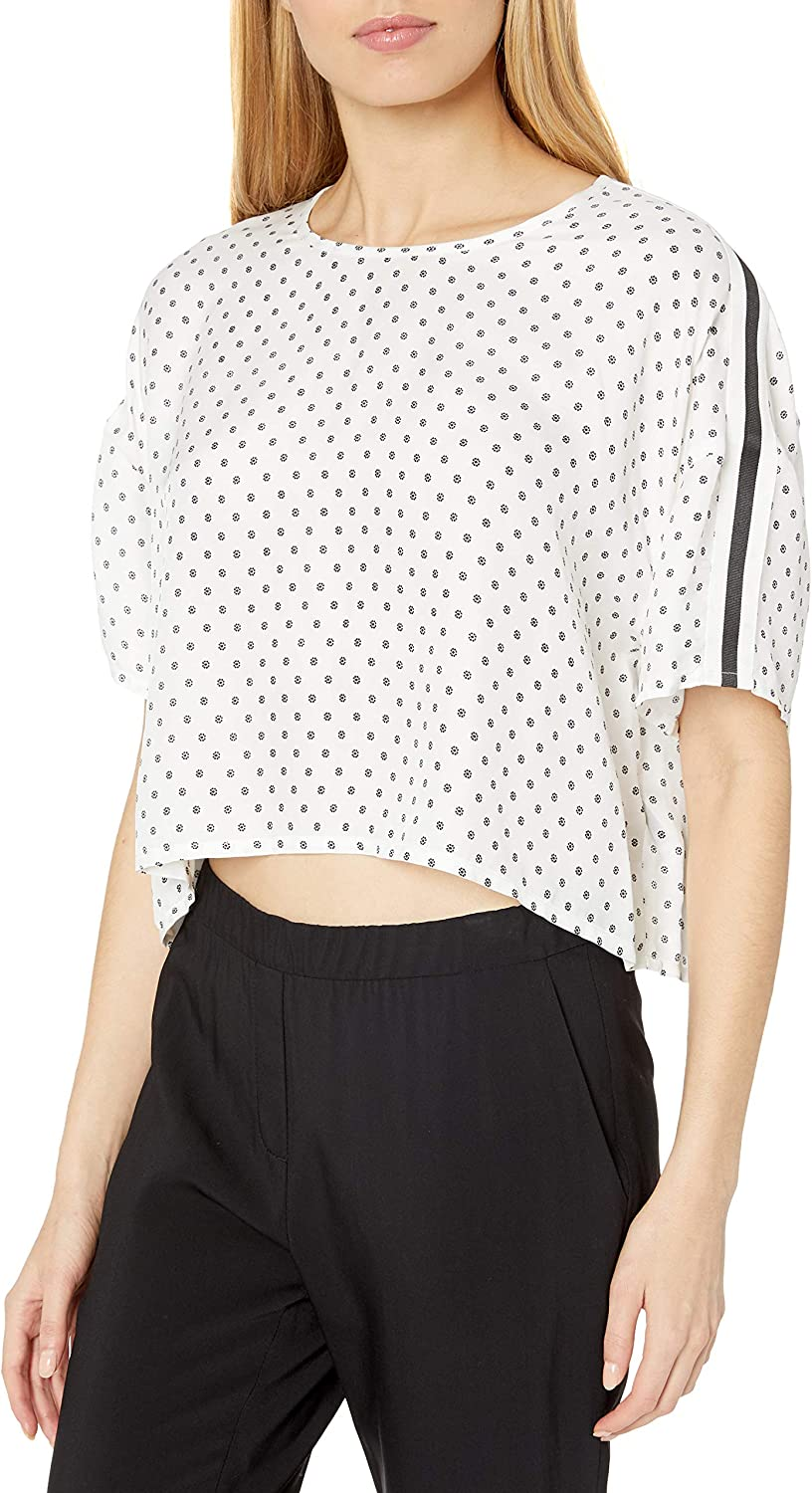 The Kooples Women's Casual Cropped Outlet SALE in Genuine a Flo Graphic Top