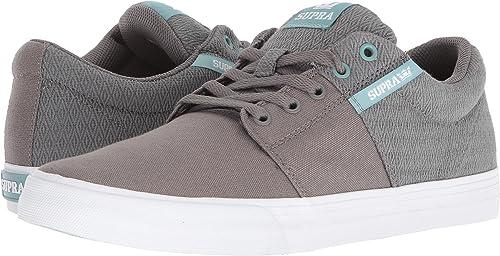 Supra Hommes's Stacks Vulc II '18 chaussures,9,gris Aquifer-blanc