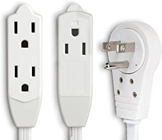 6 extension cord with flat 360 degree rotating plug