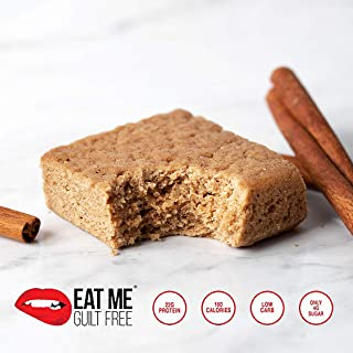 Eat Me Guilt Free, High Protein, Low Carb Cinnamon Toast Breakfast Cake, Box of 12 Cakes