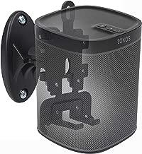 DYNAVISTA Speaker Wall Mount for Sonos Play 1 and 3 - Adjustable Full Motion Speaker Mount Bracket with Tool-Free Swivel and Tilt, Black