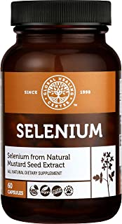 Global Healing Selenium 200mcg with Mustard Seed Extract, Antioxidant Supplement for Thyroid Support, Natural Metabolism, ...