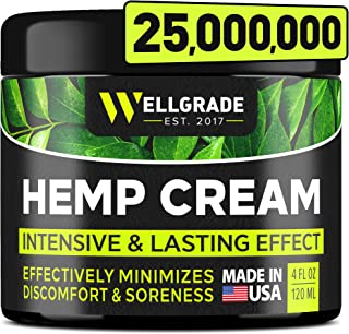 Hemp Cream 4 oz - Made in USA Natural Pain Relief Cream - for Muscle, Joint Pаіn, Lower Back Pаіn, Arthriti...