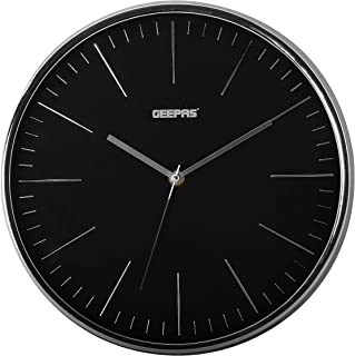 Geepas Wall Clock - Silent Non-Ticking, Round Decorative Wall Clock for Living Room, Bedroom, Kitchen (Battery Not Include...