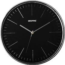 ساعة جيباس الجدارية، انالوج - GWC26012، تتطلب بطارية ايه ايه، مصنوعة من مواد متعددة