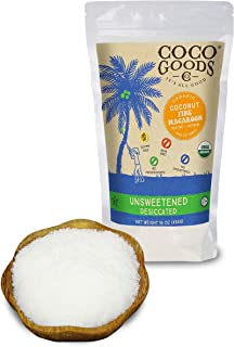 CocoGoodsCo Single-Origin Organic Unsweetened Desiccated Coconut, FINE, 16 oz (Pack of 2)