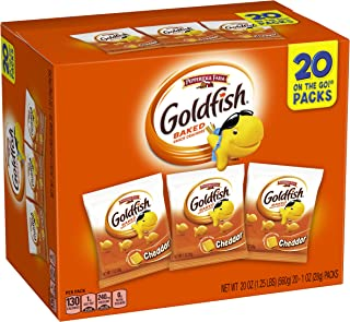 Pepperidge Farm Goldfish Cheddar Crackers, 20 oz. Multi-pack Box, 20-count 1 oz. Single-Serve Snack Packs