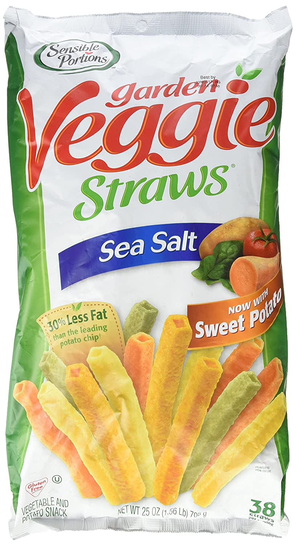 Sensible Save money Portions Garden Max 67% OFF Veggie Straws Sea 1.56 Oz. 25 Salt Lb.
