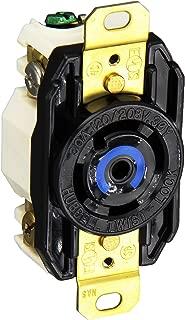 Hubbell HBL2810 Locking Receptacle, 30 amp, 3 Phase, 120/208V, L21-30R, Black