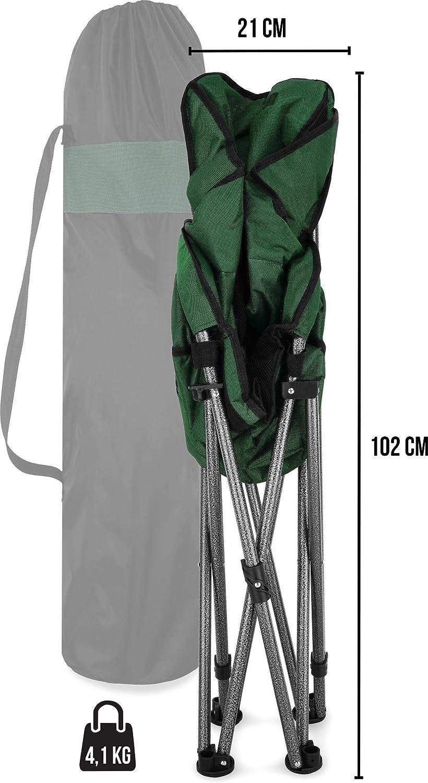 Gepolsterter Outdoor Klappstuhl normani Deluxe Campingsessel Relaxsessel XXL Moonchair Schalensitz- Comfort Camping-Stuhl 330 lbs Traglast: 150 Kg