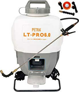 Petra Battery Powered Backpack Sprayer – 6.0AH Ultimate Battery Life Professional 4 Gallon Lithium Sprayer - 2 Wands Included, Wide Mouth Lid, Multiple Nozzles & Battery and Charger Included