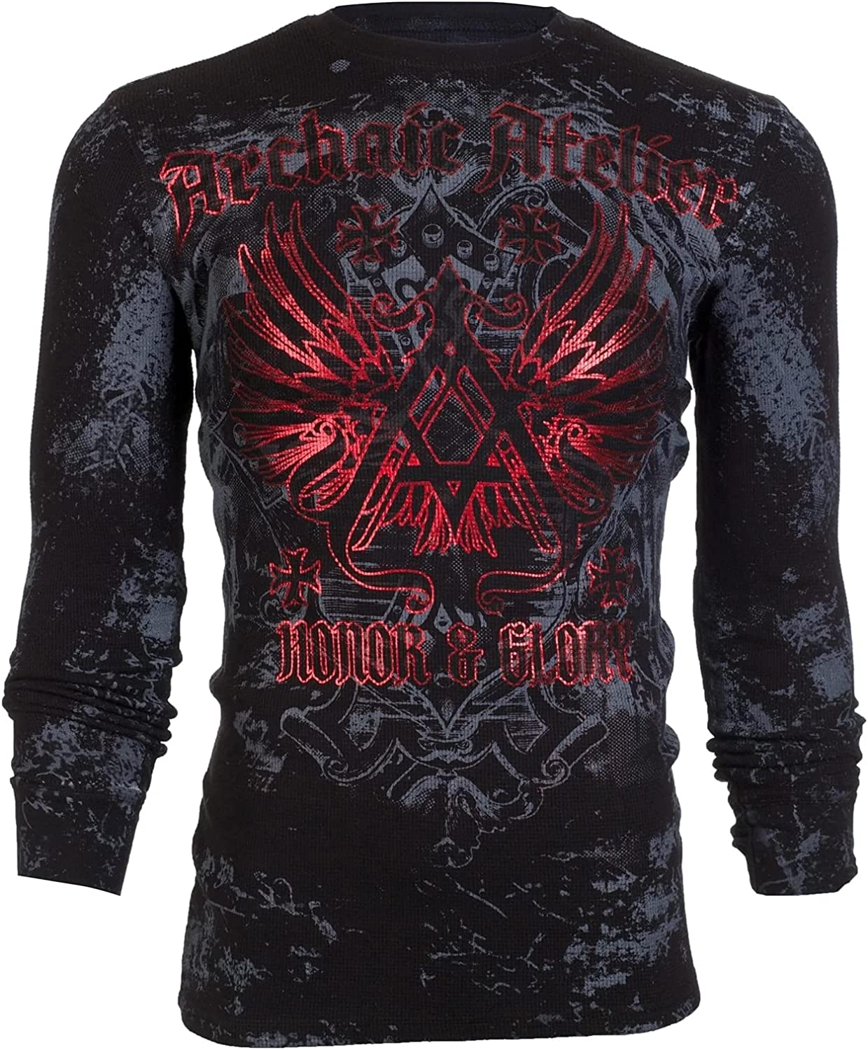 Archaic by Affliction Men's Long Sleeve Thermal Shirt Achilles