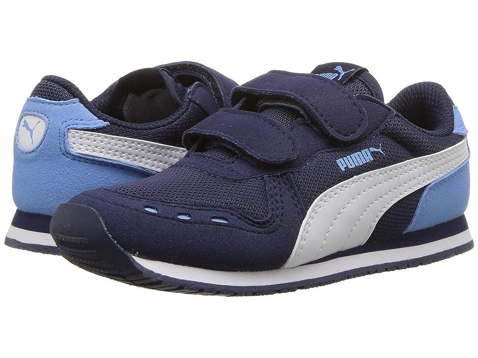 Puma Kids Cabana Racer Mesh V (Toddler) (Peacoat/PUMA White/Little Boy Blue) Boys Shoes