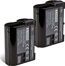 BM Premium 2 Pack of EN-EL15B Batteries for Nikon Z6, Z7, D780, D850, D7500, 1 V1, D500, D600, D610, D750, D800, D800E, D8...