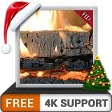 KOSTENLOS weißlicher Holzkamin - Tauchen Sie ein in die Kaskade der Freude in heißen romantischen Weihnachtswinternächten auf Ihrem HDR-4K-Fernseher und machen Sie Geräte zum Hintergrundbild und Thema