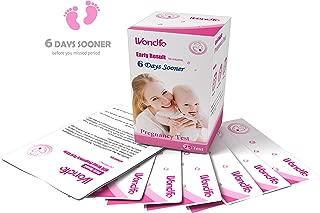 Wondfo 25Pack (10mIU) Early Result Pregnancy HCG Urine Test Strips. 25 HCG Tests 10mIU