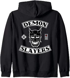 Demon Slayers Hanafuda Destruction Anime Manga Cosplay Fan Zip Hoodie