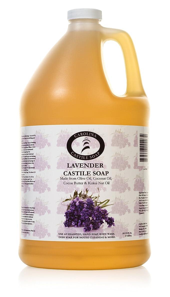 虹同僚活性化するCarolina Castile Soap ラベンダーオーガニック 1ガロン