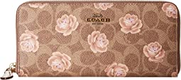 Accordion Zip Wallet In Signature Rose Print