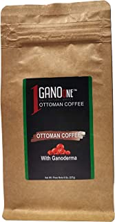 Sponsored Ad - GanoOne Ottoman Style Turkish Dibek Coffee with Ganoderma Reishi Mushroom Extract Special Blend Resealable ...