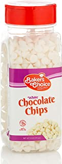 White Chocolate Flavored Chips  Non Dairy, Kosher  9 ounce.  Baker's Choice.