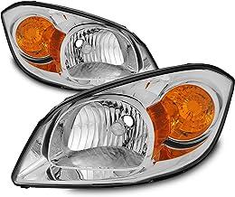 For 07-10 Pontiac G5 05-10 Chevy Cobalt 05-06 Pontiac Pursuit Headlights Front Lamps Replacement Pair