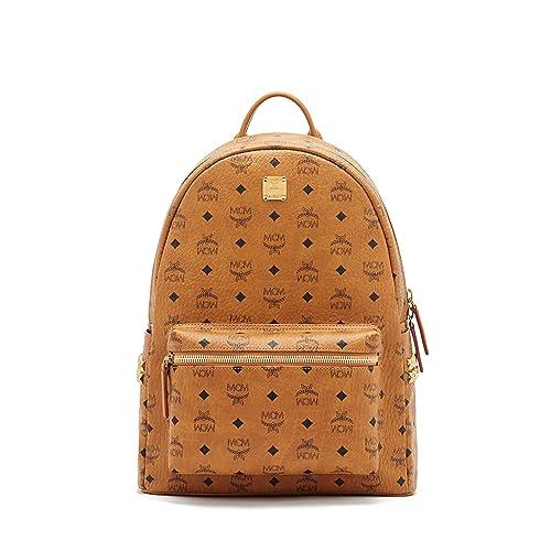 320c8c26b9a6 MCM Unisex Stark Side Stud Medium Backpack Cognac One Size