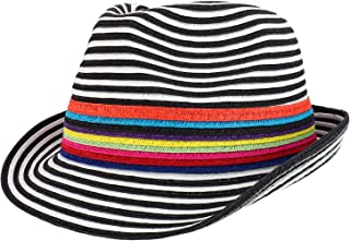 aa681be813c1f Armycrew UPF 50+ UV Protection Striped Paper Straw Fedora Hat