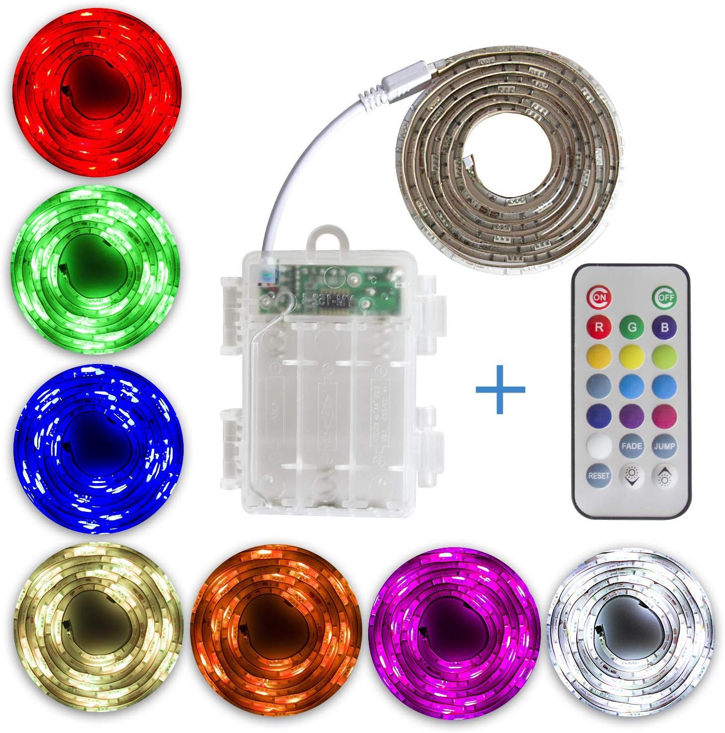 SUMAITEC Waterproof LED RGB High order Strip Multi with Battery Box Boston Mall Lights