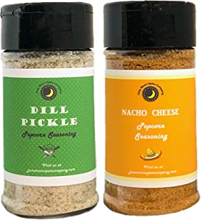 Premium | POPCORN SEASONING Variety 2 Pack | Dill Pickle Popcorn Seasoning | Nacho Cheese Popcorn Seasoning | Crafted in Small Batches with Farm Fresh SPICES for Premium Flavor and Zest