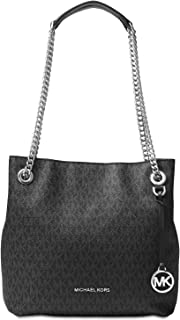 Michael Kors Womens Jet Set Chain Pebbled Leather Shoulder Handbag