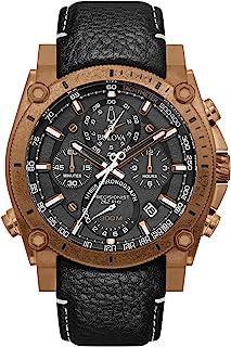 Bulova - Reloj deportivo de cuarzo para hombre de acero inoxidable con correa de nailon, negro, 24 (modelo: 97B188)