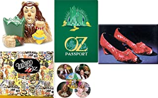 Shoes Ruby Red Courage of The Lion Wizard of Oz Figure Pack Starring Dorothy Cowardly Lion Salt & Pepper Shakers Figurine Officially Licensed 5 Pack Sticker Yellow Brick Road Passport Book Fun Set