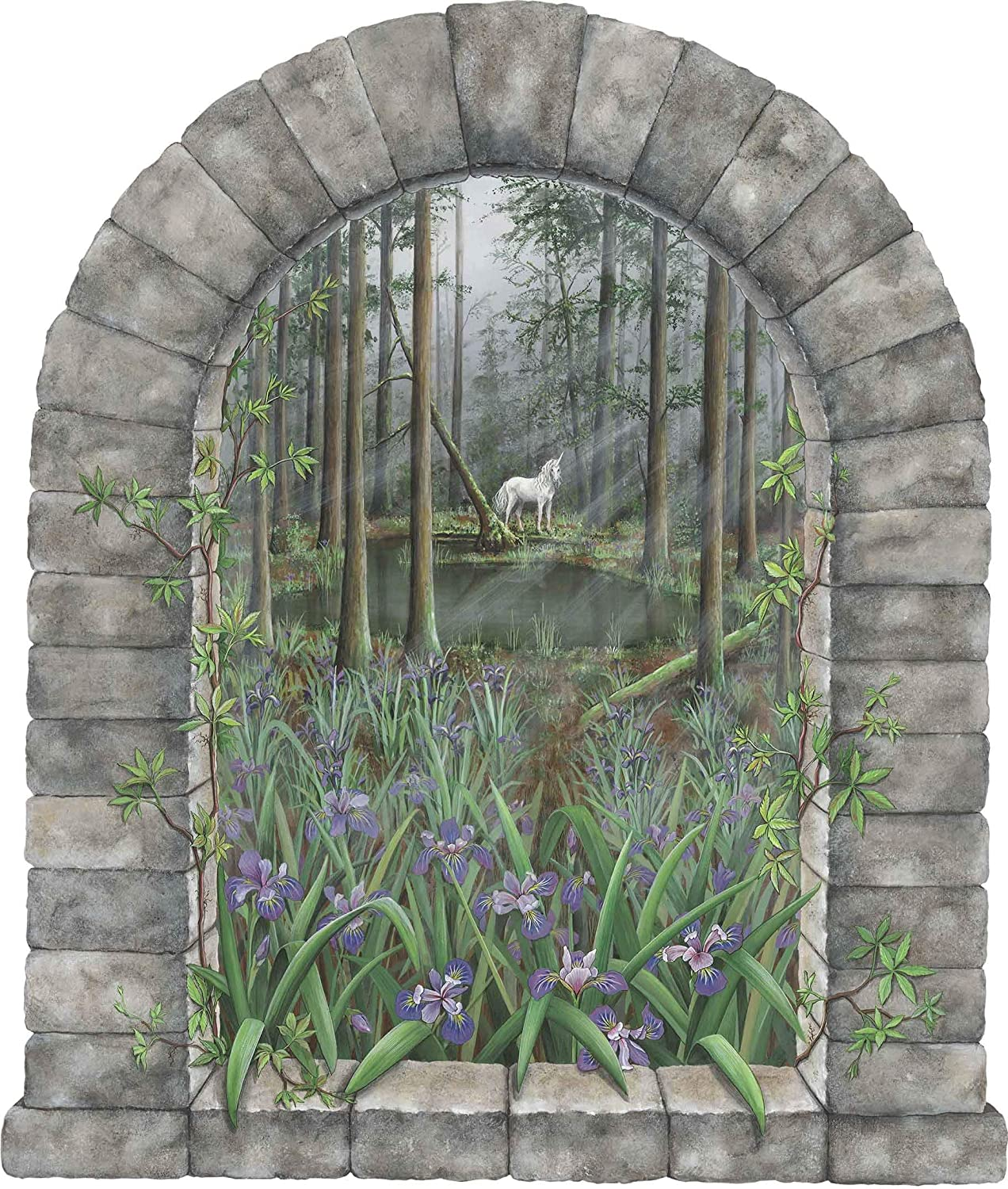 Walls of the Wild Unicorn in Forest 35 x 40 Decal in. Wall NEW before selling ☆ Classic