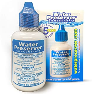 55 Gallon Water Preserver Concentrate 5 Year Emergency Disaster Preparedness, Survival Kits, Emergency Water Storage, Eart...