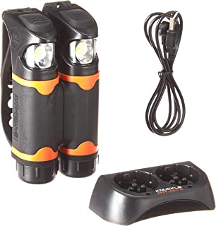 Knuckle Lights Advanced - Rechargeable Ultra Bright Running Lights; Wide Flood Beams Illuminates Your Entire Path. Easy to Use,  Just Grab and Go; 100% Waterproof-Use in Any Condition. See & BE SEEN