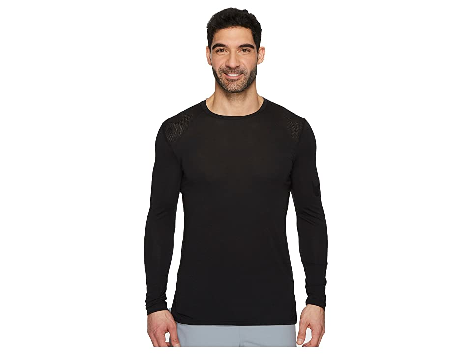Nike Breathe Elite Basketball Long Sleeve Top (Black/Black) Men