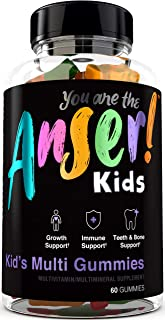 Anser Kid's Gummy Multivitamins by Tia Mowry - Once Daily Children's Vitamin for Growth & Whole Body Support - Promotes Healthy Teeth & Bones - 60 Gummies