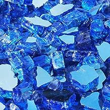 Blue Ridge Brand&Trade; Cobalt Blue Reflective Fire Glass - 20-Pound Professional Grade Fire Pit Glass - 1/2