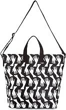 Lulu Guinness Women's Romy Canvas and Beach Tote Bag Black (Black/Chalk)