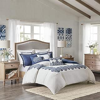 MADISON PARK SIGNATURE Indigo Sky Comforter Set, King, Off Off White/Blue
