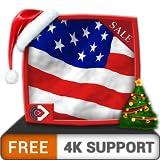無料の驚くべきアメリカ国旗HD-HDR 4Kテレビ、8Kテレビ、壁紙としての火のデバイス、クリスマス休暇の装飾で美しい愛国心が強い旗で国の独立記念日を祝います