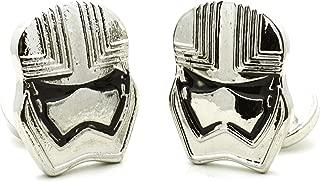Star Wars Stormtrooper Mask Men Shirt Fashion Silver Tone Cufflinks