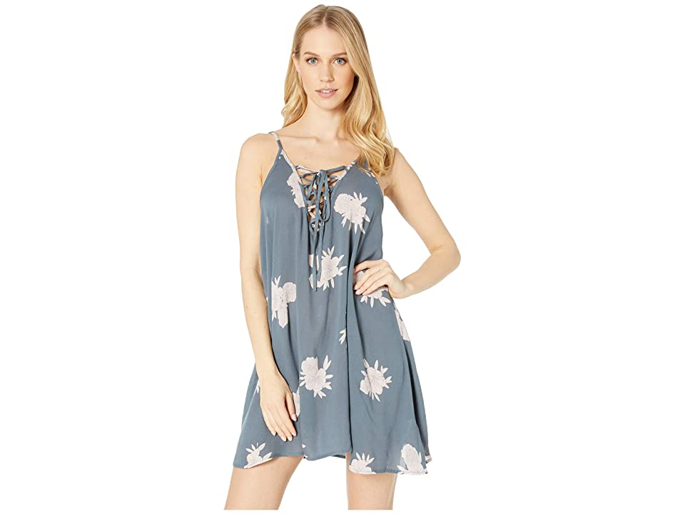 Roxy Softly Love Printed Dress Cover-Up (Turbulence Rose and Pearls) Women